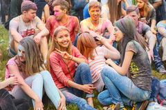 Festival av färger i Krakow Arkivbilder