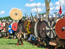 Festival av historisk rekonstruktion av vikingar Royaltyfria Bilder