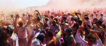 Festival av Holi Barcelona Fotografering för Bildbyråer