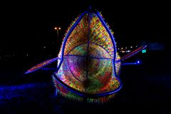 Festival av ljus, Berlin, Tyskland - Ernst Reuter Platz Arkivfoto