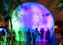 Festival av ljus, laser-show Israel Jerusalem, den gamla staden, Arkivbild