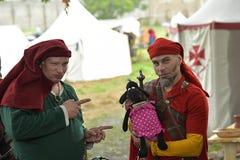 Festival av medeltida rekonstruktion Fotografering för Bildbyråer
