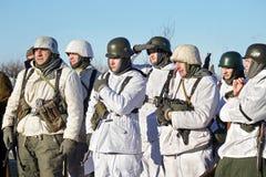 Festival av militär historia av Ryssland av XX århundradet Samararegion, Togliatti, 5 Januari 2018 Arkivbilder