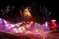 Festival av musik i Thailand trendiga moderna trender i utomhus- musik för alla personer royaltyfri foto