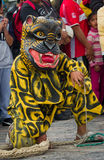 Festival av oskulden av Guadalupe i Mexico - stad Fotografering för Bildbyråer