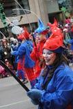 Festival av santa som är clous i montreal arkivbild