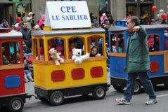 Festival av santa som är clous i montreal royaltyfria bilder