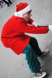 Festival av santa som är clous i montreal royaltyfria foton