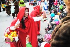 Festival av santa som är clous i montreal royaltyfri foto