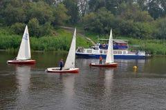 Festival av vattensportar. Tyumen Fotografering för Bildbyråer