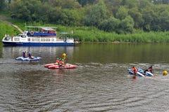 Festival av vattensportar. Tyumen Arkivfoton