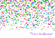 Festival background with confetti. Happy new year background with confetti seamless pattern Royalty Free Stock Photo