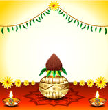 Festival Background With Kalash. Vector illustration Royalty Free Stock Images