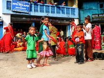 Festival in Bahundanda - Annapurna Circuit - Nepal Stock Photography