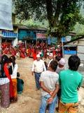 Festival in Bahundanda - Annapurna Circuit - Nepal Stock Images