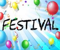 Festival Balloons Means Performance Celebrate And Cheerful. Festival Balloons Representing Celebrations Celebration And Joy Stock Photos