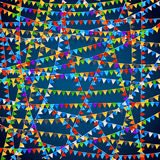 Festival banner bg. Festival banner. Party celebrating colored flags background. Vector illustration Royalty Free Stock Photography