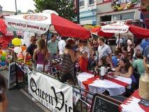 Festival Beer Vendor Stock Photo
