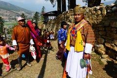 Festival in Bhutan stockfotos