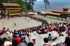 Festival in Bhutan Royalty Free Stock Photography