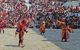 Festival in Bhutan Stock Image