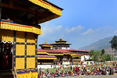 Festival in Bhutan Stock Photography