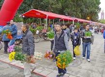 Festival-Blumen-Markt des Frühlings-2012 in Nanhai Stockbild