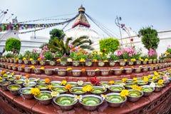 Festival at Bodhnath stupa Stock Photo