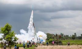 Festival Boon Bang Fai di Rocket Fotografie Stock Libere da Diritti