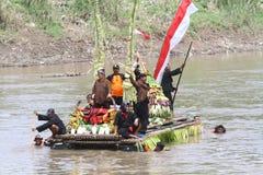 Festival-Boots-Parade Bengawan Solo- Lizenzfreies Stockbild