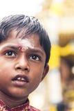 Festival Boy. An Indian Boy in a hindu festival in Brickfields, Kuala Lumpur, Malaysia Stock Images