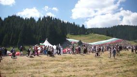 Festival bulgare de folklore de scène principale banque de vidéos