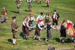 Festival bulgare Varvara de folklore et de mascarade photos libres de droits