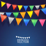 Festival Bunting Ribbons. Vector illustration Stock Images