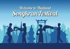 Festival célèbre de Songkran de la Thaïlande Loas Myanmar et du Cambodge, n illustration libre de droits