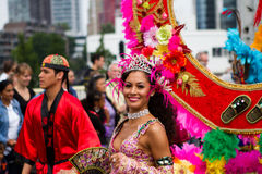 Festival caraibico di Carnaval a Rotterdam Immagini Stock Libere da Diritti