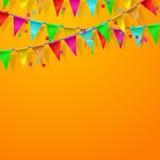 Festival, Carnaval, vierings oranje achtergrond Royalty-vrije Stock Afbeelding