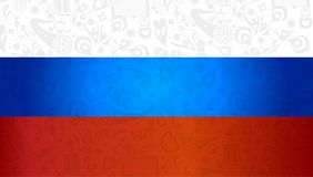 Russian flag Goal 2018 World Cup Russia. Russian flag, Goal 2018 World Cup Russia Championship Soccer sports symbols, football ball, soccer player abstract Stock Photo