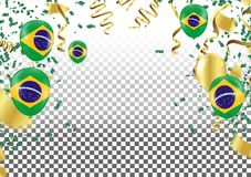 Festival Celebrated Brazilian Colorful Celebration Brazilian Han. G bunting for Brazil celebration template banner. vector Royalty Free Stock Image