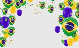 Festival Celebrated Brazilian Colorful Celebration Brazilian Han. G bunting for Brazil celebration template banner. vector Stock Photo