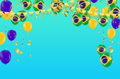 Festival Celebrated Brazilian Colorful Celebration Brazilian Car royalty free illustration