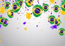 Festival Celebrated Brazilian Colorful Celebration Brazilian Han. G bunting for Brazil celebration template banner. vector Royalty Free Stock Photo