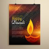 Festival celebration flyer design for diwali season. Vector Stock Photos