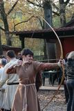 Festival celta 2017 de Motta - reenactment histórico Foto de Stock Royalty Free