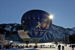 Festival chaud de ballon à air dans Tannheimer Tal, l'Europe Photos libres de droits