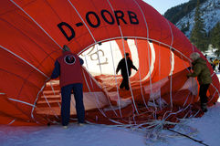 Festival chaud de ballon à air dans Tannheimer Tal, l'Europe Images stock
