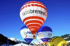 Festival chaud de ballon à air dans Tannheimer Tal, l'Europe Image stock