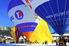 Festival chaud de ballon à air dans Tannheimer Tal, l'Europe Photographie stock
