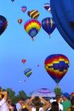 Festival chaud de ballons à air au Québec Image stock