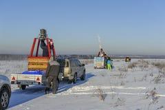 Festival chaud de l'hiver du ballon à air photographie stock